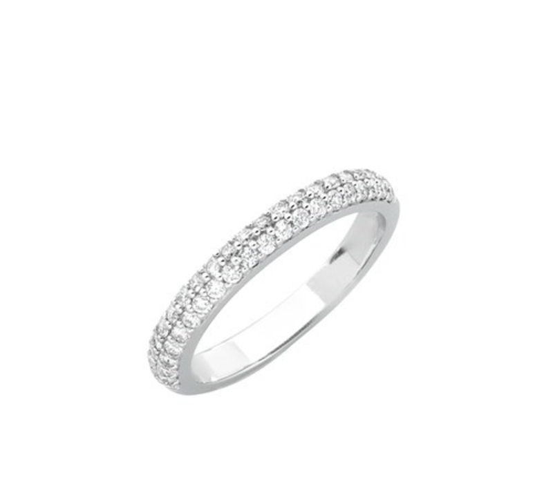DOUBLE ROW PAVE DIAMOND WEDDING RING Monique Double Row Pave Diamond Wedding Ring 1